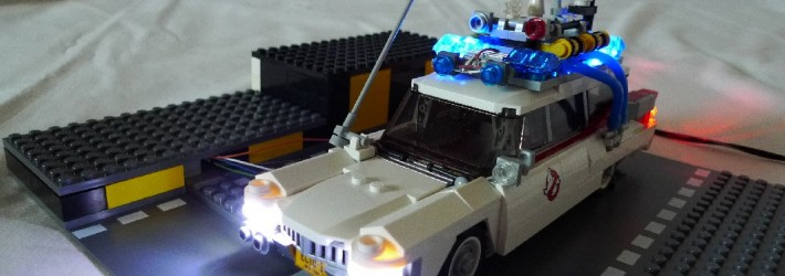 Ghostbusters ECTO-1 lightning
