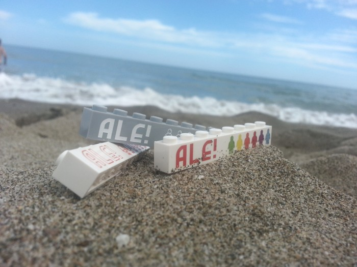 ALE! en la playa
