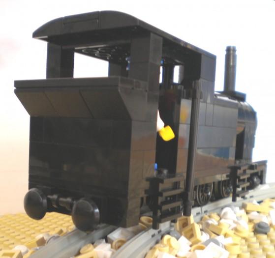 Trasera de la locomotora