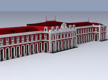Estación del Norte - Madrid 1882. Fachada principal