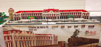 Estación del Norte de Madrid en la exposición LEGO Fan Weekend de Dinamarca